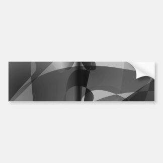 Monochrome Lilies Art Bumper Stickers