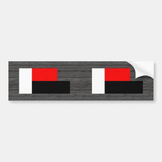 Monochrome Madagascar Flag Bumper Sticker