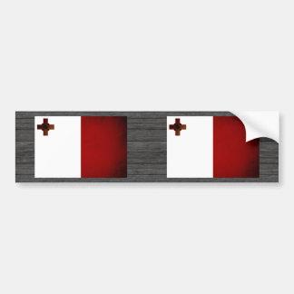 Monochrome Malta Flag Bumper Sticker