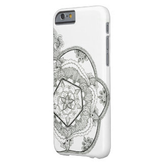 Monochrome Mandala Barely There iPhone 6 Case