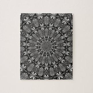 Monochrome Mandala Jigsaw Puzzle
