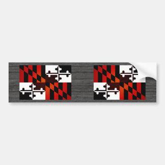 Monochrome Maryland Flag Bumper Sticker