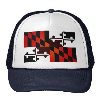 Monochrome Maryland Flag Hat