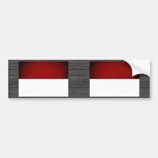 Monochrome Monaco Flag Bumper Sticker