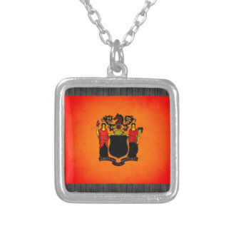 Monochrome New Jersey Flag Necklaces