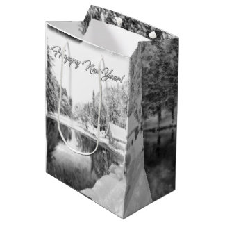 Monochrome New Year Theme Gift Bag