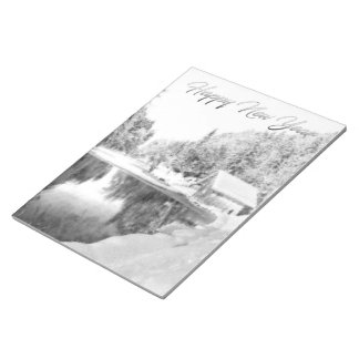 Monochrome New Year Theme Notebook Notepad