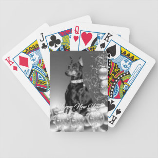 Monochrome New Year theme Playing Cards
