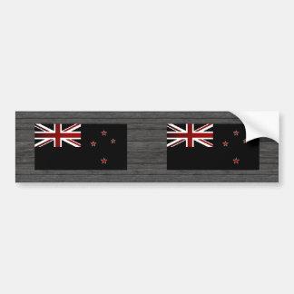 Monochrome New Zealand Flag Bumper Sticker