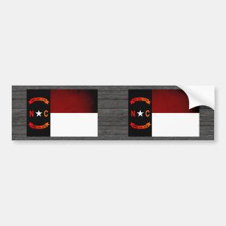 Monochrome North Carolina Flag Bumper Stickers