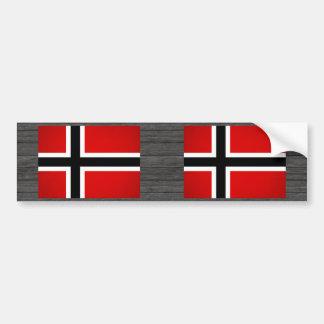 Monochrome Norway Flag Bumper Sticker