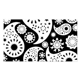Monochrome Paisley Pattern Design. Pack Of Standard Business Cards