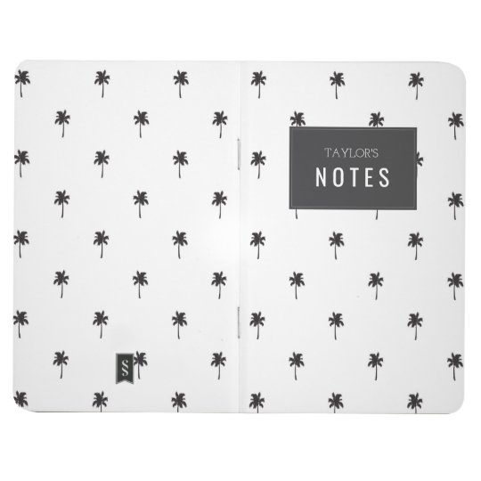 Monochrome Palm tree Hipster Notebook Journal