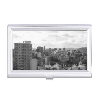 Monochrome photo business card holder vol001