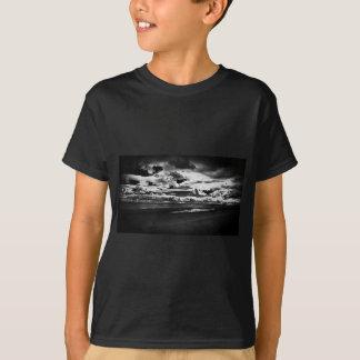 Monochrome Picture of Dornoch Beach T-Shirt
