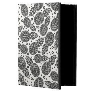 Monochrome Pineapples iPad Air Covers