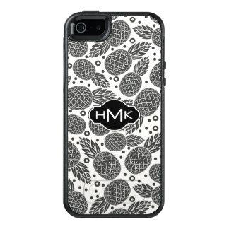 Monochrome Pineapples   Monogram OtterBox iPhone 5/5s/SE Case