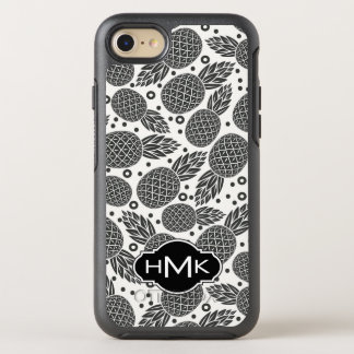 Monochrome Pineapples | Monogram OtterBox Symmetry iPhone 8/7 Case