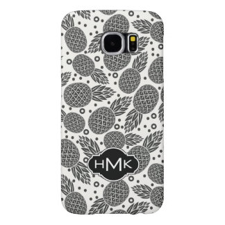 Monochrome Pineapples | Monogram Samsung Galaxy S6 Cases