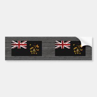 Monochrome Pitcairn Islands Flag Bumper Sticker