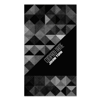 Monochrome Playful Triangles Business Card Templates