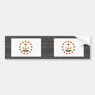 Monochrome Rhode Island Flag Bumper Stickers