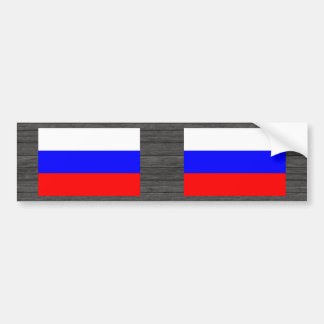 Monochrome Russia Flag Bumper Sticker