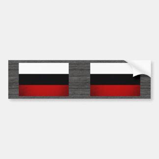 Monochrome Russian Federation Flag Bumper Sticker