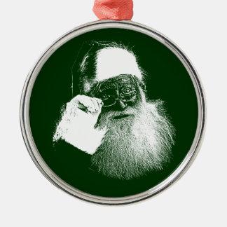 Monochrome Santa Claus Premium Christmas Ornament