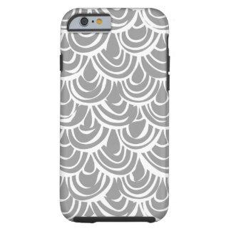 monochrome scallop scales tough iPhone 6 case