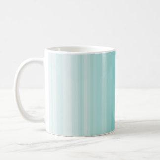 Monochrome simple blue stripe basic white mug