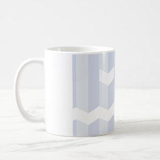 Monochrome simple blue stripe face coffee mug