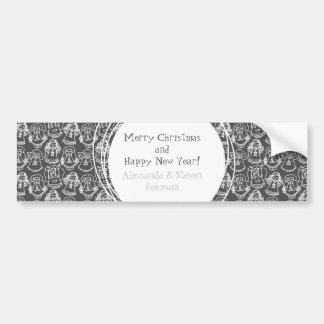 monochrome singing angels on grey background bumper stickers