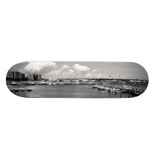 monochrome skate board