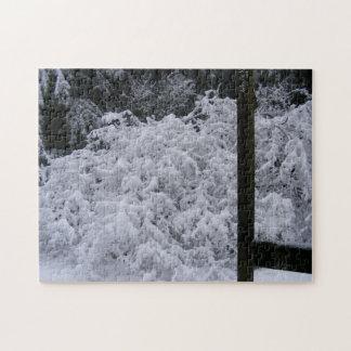 Monochrome Snowy Maple Puzzle