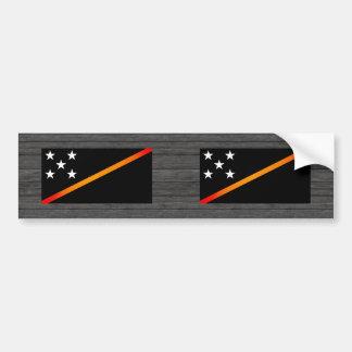 Monochrome Solomon Islands Flag Bumper Stickers