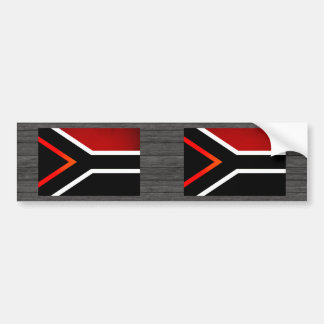 Monochrome South Africa Flag Bumper Stickers