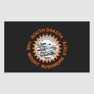 Monochrome South Dakota Flag Rectangle Sticker