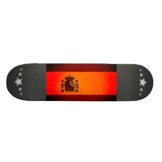 Monochrome Spain Flag Skate Board Deck