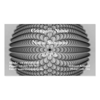 Monochrome Sphere Card Double-Sided Standard Business Cards (Pack Of 100)