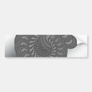 Monochrome Spiral Graphic. Bumper Stickers