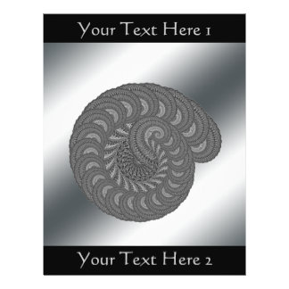 Monochrome Spiral Graphic Flyers