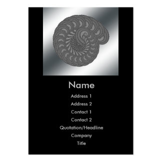 Monochrome Spiral Graphic. Pack Of Chubby Business Cards