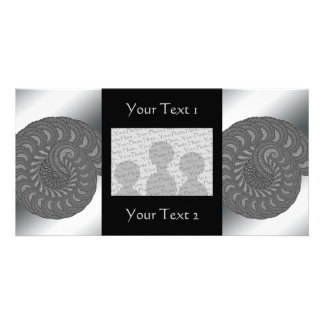 Monochrome Spiral Graphic. Custom Photo Card