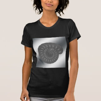 Monochrome Spiral Graphic. T-Shirt