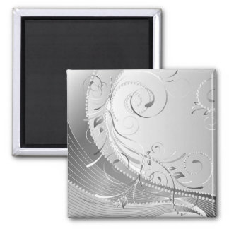 monochrome square magnet