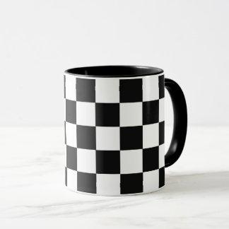 Monochrome Squares abstract repeatable geometric Mug