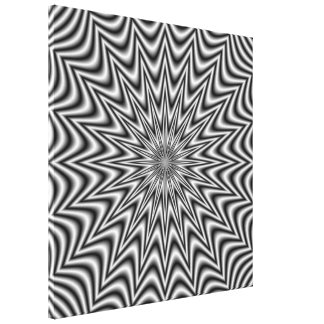 Monochrome Star  Canvas Print