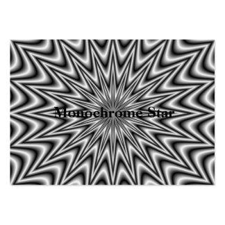 Monochrome Star Chubby Business Card