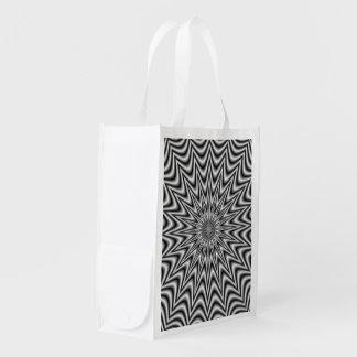 Monochrome Star Grocery Bags